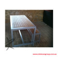 Galvanised tube with Jarrah Timber Slats product