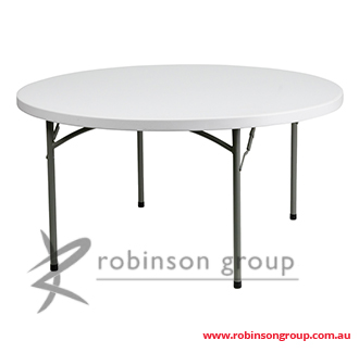 Hanna 1800 round folding table robinson group for Table hanna