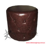 Custom Round Buttoned Ottoman