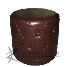 Custom Round Buttoned Ottoman
